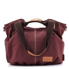 Japan & Korean Style Large Canvas Shoulder Bag Women Trendy Fashion Simple Hand Bag Ladies Durable Casual Crossbody