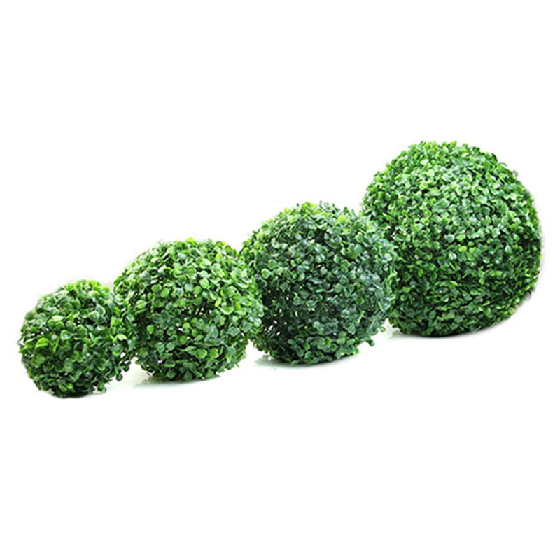 Artificial Plant Ball Topiary Tree Boxwood Home Outdoor Wedding Party Decoration Artificial Boxwood Balls Garden Green Plant