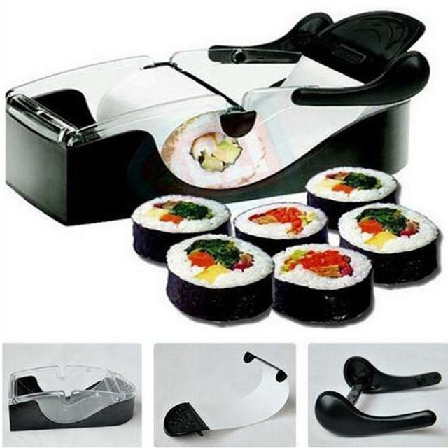 DIY Roller Machine Sushi Maker Easy Kitchen Magic Gadget Cooking Tools Curtain Bento Acessorios Onigiri Roll Tool Sushi Mold
