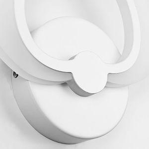 Image 5 - LED אור מודרני מנורת קיר אקריליק פמוט 10W AC90 260V מקורה אמבטיה חדר שינה סלון מסדרון אמנות קישוט