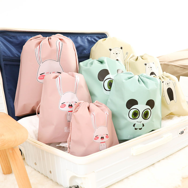 8SETS / LOT Women Cosmetic Bag Toiletry Pouch Storage Travel Wash Pouch Portable Cartoon Cute Makeup Bag