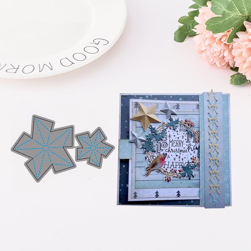 JC Metal Cutting Dies for Card Making Stereoscopic Star Dies Scrapbooking Stencil Album Embossing Folder Template Background in Cutting Dies from Home Garden