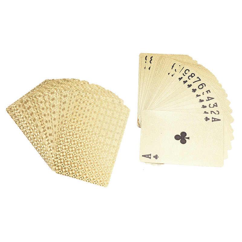 10 stile 1 box Gold Silber PVC Poker Euro USD Stil Spielkarten Wasserdichte Karten Glücksspiel Bord spiel
