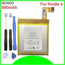 ISUNOO 890 мА/ч, Батарея для чтения электронных книг для детей 4, 5, 6, D01100 515-1058-01 MC-265360 S2011-001-SWith инструменты