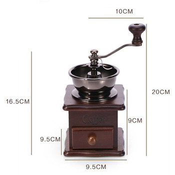 NOCM-Manual Coffee Grinder, Hand Coffee Beans Grinding Machine, Hand Coffee Burr Mill,Manual Bean Grinder