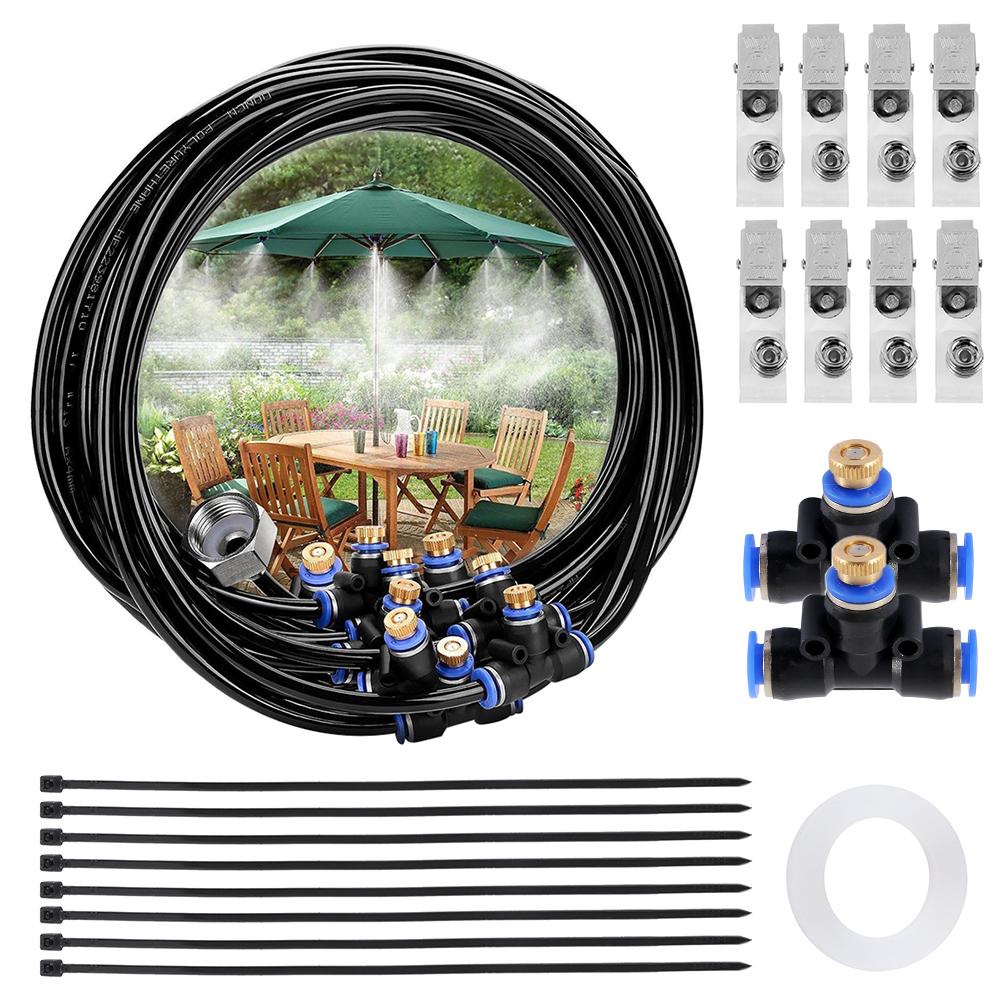 HTB1cGYxThTpK1RjSZFMq6zG VXaw - Water Misting Cooling System Kit summer Sprinkler brass Nozzle Outdoor Garden