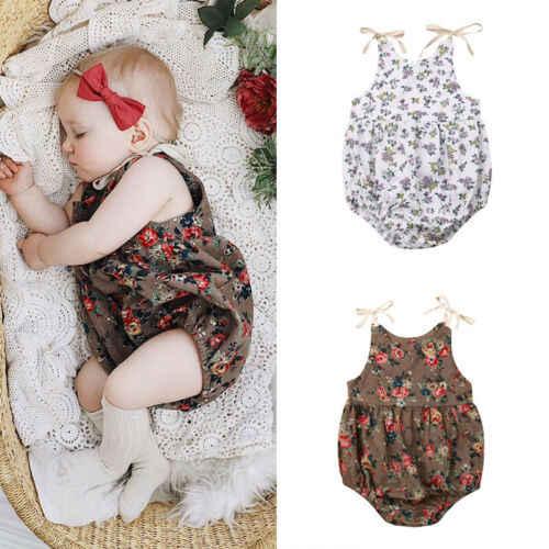 2019 Baby Girl summer Print Shoulder Strap leopard Jumpsuit Romper for Kid clothes toddler Children newborn Outfits