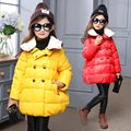 Girls Jackets Cotton Padded Children Winter Parka Coats Cartoon Knitted Hood Outerwear Girls Clothes 5 9 11 Years Brand Clothing