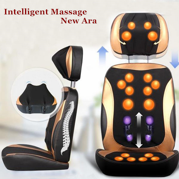 Cervical Massage Massager Chair 3D Relax Health Care Back Home Heating Lumbar Device Free Shipping pop relax electric vibrator jade massager light heating therapy natural jade stone body relax handheld massage device massager