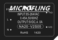 NA20 V2S05 switching power 5v ac dc converter 220V to 5V 4a low ripple isolated ac dc power module 5V