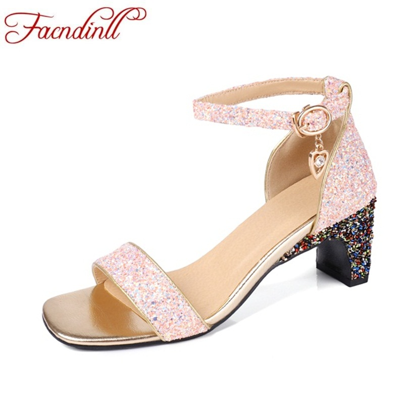 FACNDINLL 2018 ankle strap heels woman sandals summer shoes women open toe high heels ladies party dress sandals big size 34-44 lcx 2017 concise nude suede high heels sandals women sequined ankle strap summer dress shoes woman open toe sandals