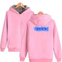 Moletom Riverdale Pink Hoodie Sweatshirt Women Men Jughead Jones Winter Thick Warm Fleece Zip Up Hooded Jacket Coat Outerwear