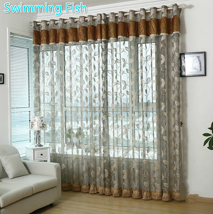 Quanlity Sheer Panel,Voile Curtain Without Top Valance