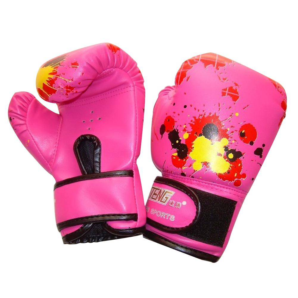 HobbyLane Child Boxing Glof Kids Professional Training Fighting Gloves Muay Thai Sparring Punching Kickboxing Breathable PU Glof