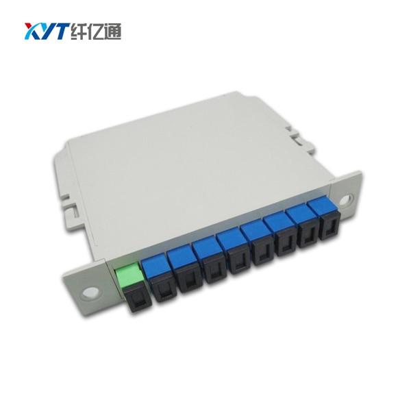 Fiber Optical PLC Fiber Tool 1x8 Box Cassette Card Insert PLC Splitter Module SC Upc Connector