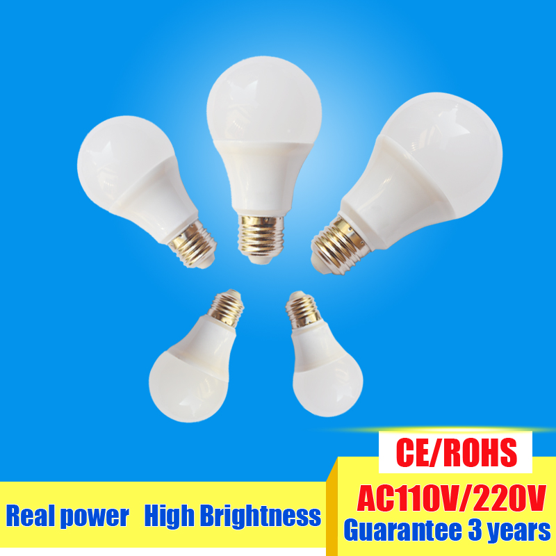1 pcs LED E14 LED lamp E27 LED bulb AC 220V 230V 240V 15W 12W 9W 7W 5W 4W 3W Lampada LED Spotlight Table lamp Lamps light