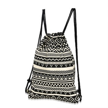 Printed Pattern Tote Backpack