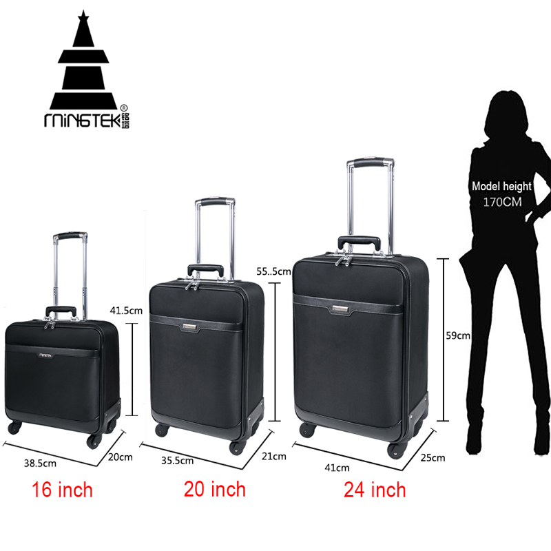 Travel On Road Trolley Luggage Suitcase 16 20 24 Inch Rolling ...