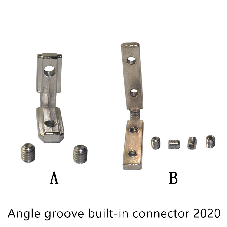 T slot L type 90 degree 2020 aluminum profile Inside corner connector bracket with M4 or M5 screws