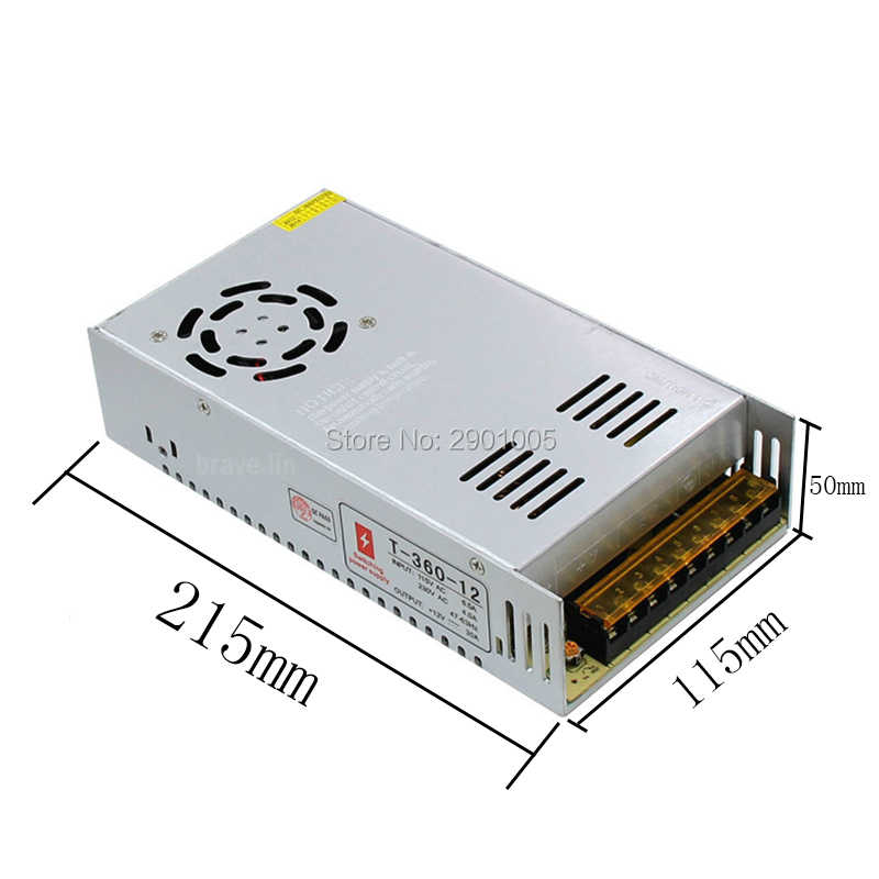 AC 110/220 DC 12V 30A 360 ワット電源 LED ドライバ変圧アダプター 12v 220 の 24v コンバータ 5050 3528 3014 LED ストリップライト