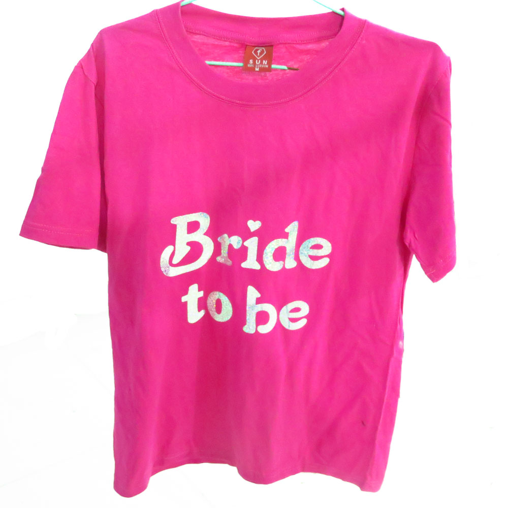 T Shirt Transfer 50 Off For 3pcs Sparking Bride To Be Bridesmaid Hen Stag Party Wedding Event Supplies Fun Team In Diy Decorations From