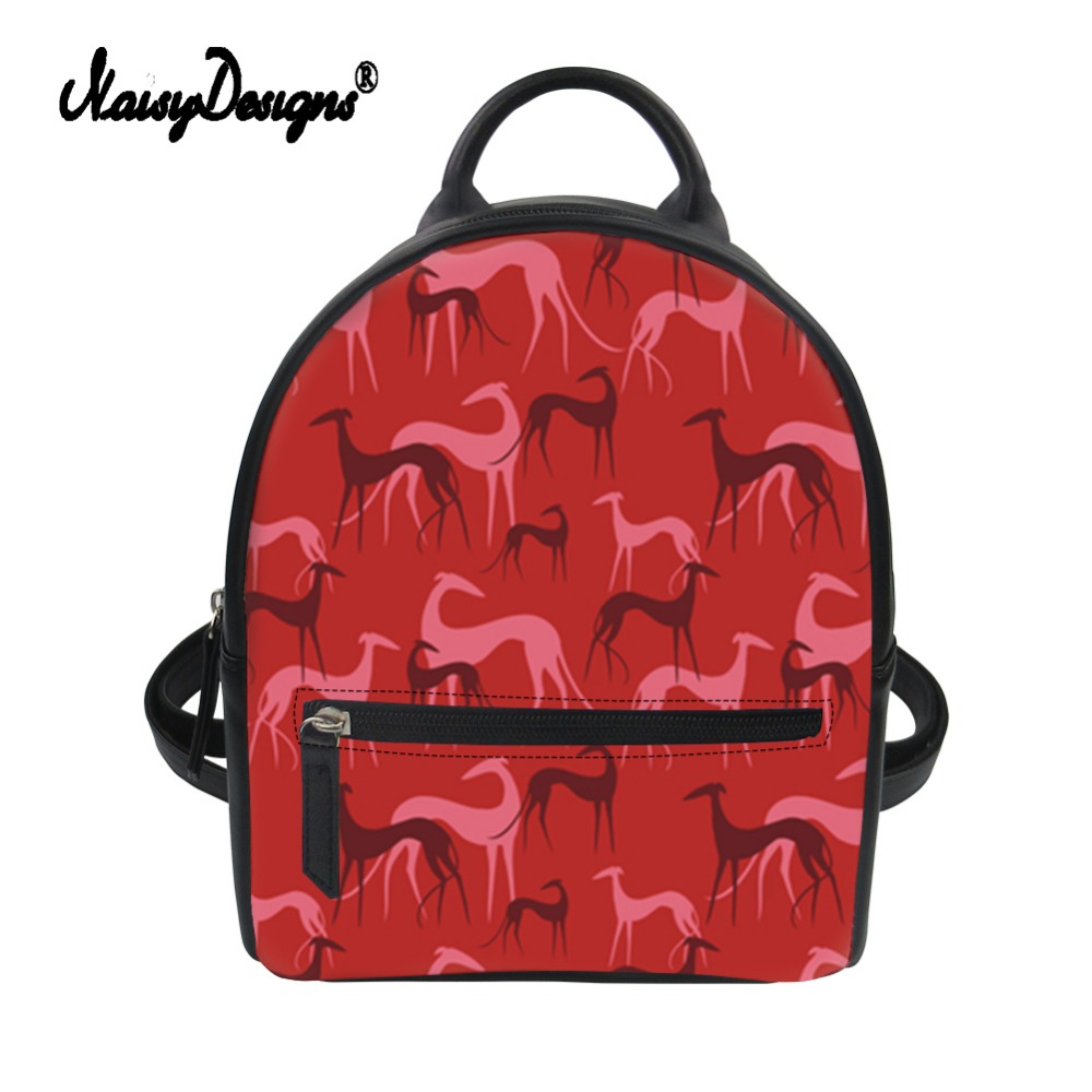 Noisydesigns Women PU Mini Backpack Greyhounds Prints Ladies Rucksack Custom Bag Girls Knapsack Shoulder School Mochila FemininaNoisydesigns Women PU Mini Backpack Greyhounds Prints Ladies Rucksack Custom Bag Girls Knapsack Shoulder School Mochila Feminina