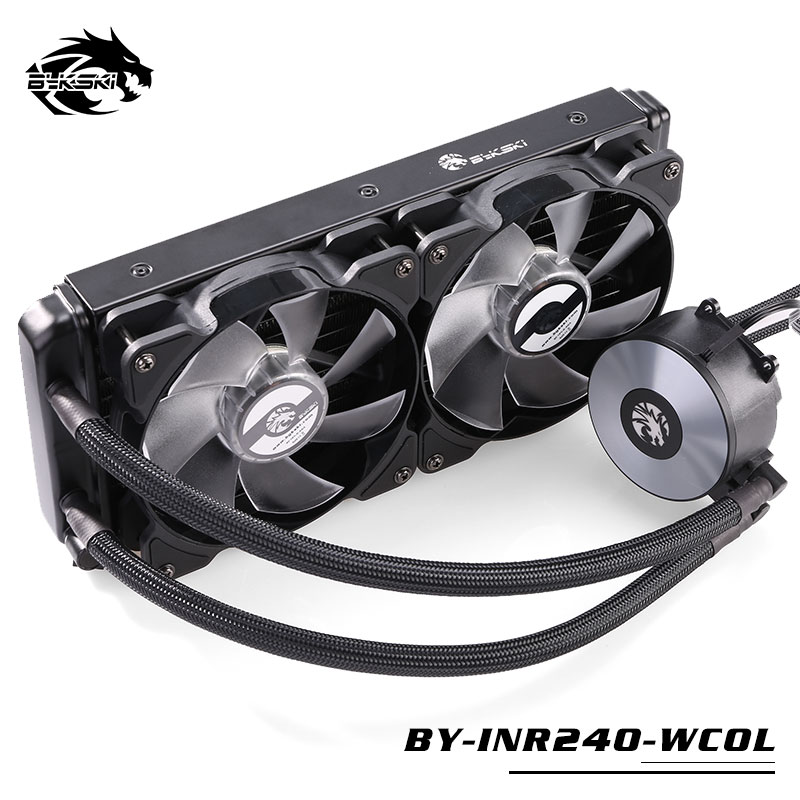 BYKSKI Water Cooling Kit Basic Kit with 120mm 240mm Radiator Pump CPU Block Fan Simple Cooling