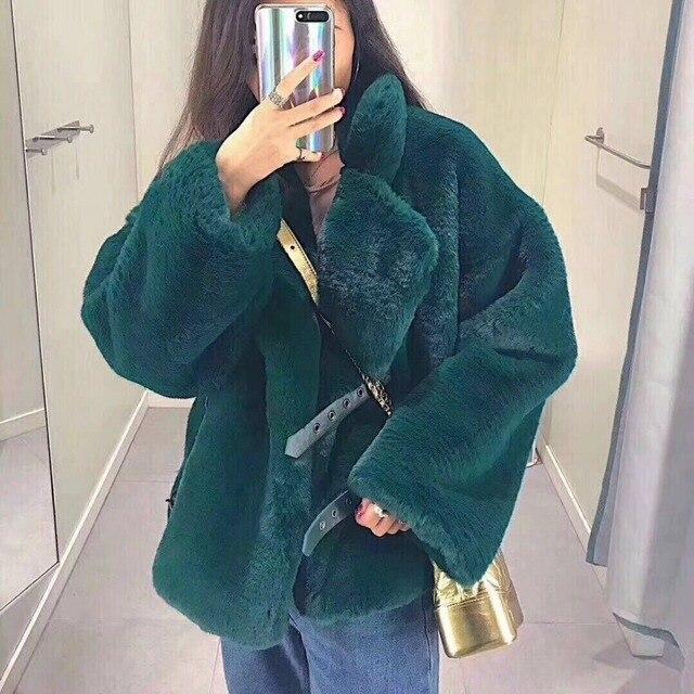 Fur & Faux Fur Coat Para Mulheres Denim Tops & Jacket Feminino Casacos De Pele de Carneiro Macio Coelho Artificial Moda Loja Online roupas