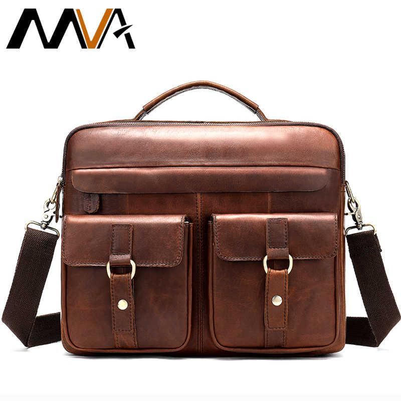 83b2f60c0616 MVA горячие продаж сумка через плечо мужская сумка для документов мужская  сумка для ноутбука кожа портфель