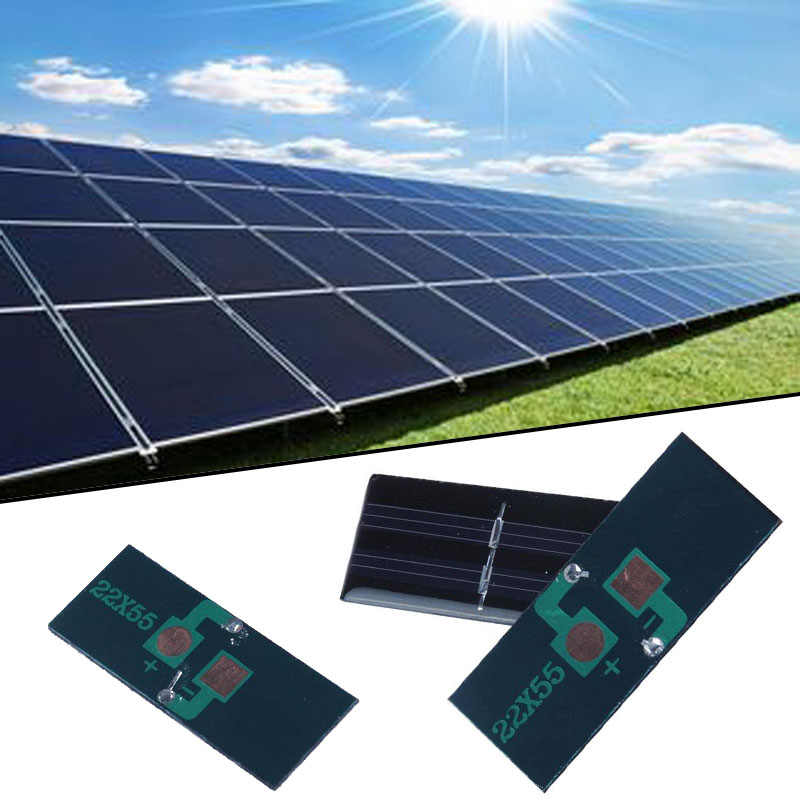 Home DIY بها بنفسك 0.5 فولت/1 فولت 60mA/250mA لوحة الطاقة الشمسية وحدات الالواح الشمسة الصغيرة ل شاحن جوّال الهاتف المحمول الذكي اللعب المحمولة