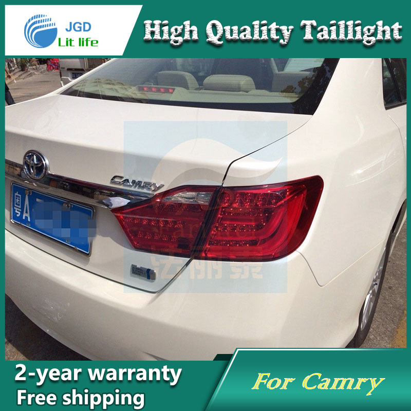 Car Styling Tail Lamp for Toyota Camry 2012 Tail Lights LED Taillight Rear Lamp LED DRL+Brake+Park+Signal Stop Lamp