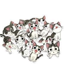 Stickers Kids Toys Cartoon Cat Laptop Scrapbooking Album Sticker Toys for Children Anime Animal Diary Stickers Pack 14pcs/Lot(China)