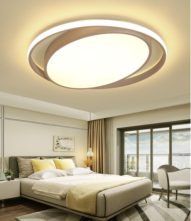 Dimmable Round Modern Led Ceiling Lights For Kitchen Living Room Bedroom White/Black Remote Controller Ceiling Lamp FixturesDimmable Round Modern Led Ceiling Lights For Kitchen Living Room Bedroom White/Black Remote Controller Ceiling Lamp Fixtures