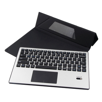 Custodia Per Tablet 10.1 Con Tastiera | Per Chuwi Tablet Pc In Alluminio Removibile Hi10 Bluetooth Touchpad Russo/ebraico Tastiera + Pu Portafoglio In Pelle Case Basamento Della Copertura