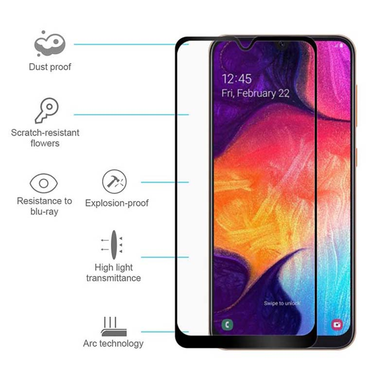 Tempered Glass For Samsung A50 Cmera lens Protective Glass For Samsung Galaxy A50 2019 A 50 50A 6 4INCH Glas Film A505F glass in Phone Screen Protectors from Cellphones Telecommunications