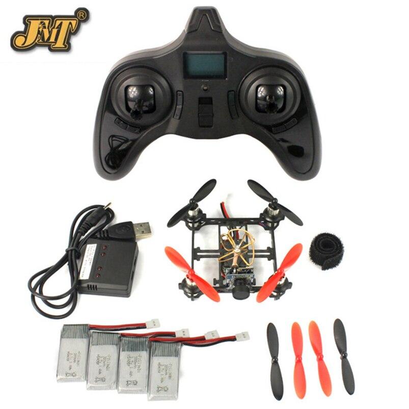 JMT Mini Tiny QX80 80mm Carbon FPV Brushed Indoor RC Quadcopter DIY RTF Assemble Kit H107 Flight Control 5.8G 25mW Camera