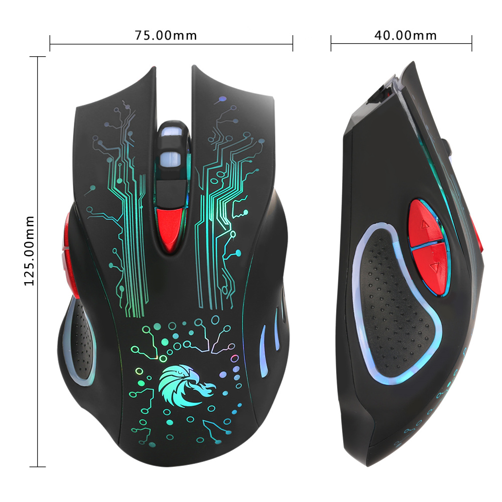 Image 4 - HXSJ H700 Adjustable 5500DPI Professional USB Wired Optical 6 Buttons Gaming Mouse with LED Backlight Ergonomical Design-in Mice from Computer & Office