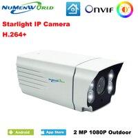 אור כוכבים NuMenWorld IP המצלמה 1080 P HD יעילות גבוהה לבן צבע LED תאורה חיצוני בצבע מלא בתוספת תמונה