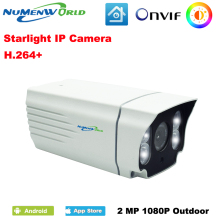 NuMenWorld Starlight IP Camera 1080P White High Efficiency LED Color Image Outdoor Full Color Plus Lighting
