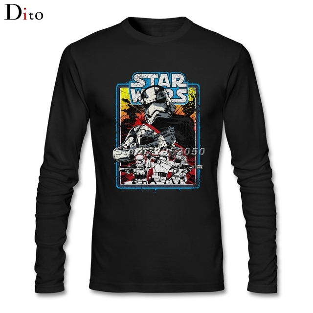 cd24164ed Men's Male Vintage Star Wars Stormtroopers Shirt Custom Long Sleeve Family  Movie T-shirts Men