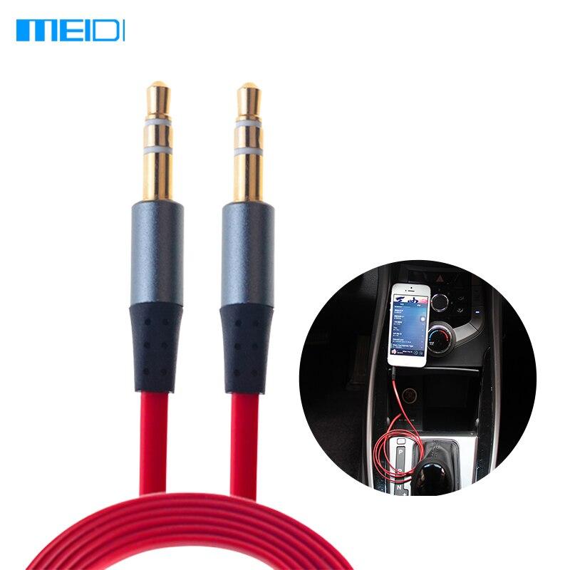 Meidi 3.5mm 4ft 1.2 m aux cable de audio para iphone coche Latidos auriculares a