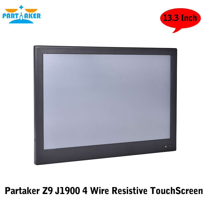 13.3 Inch Industrial Touch Panel PC All in One Computer 4 Wire Resistive Touch Screen with Windows 7/10,Linux Intel J1900 2