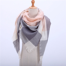2018 New Spring Winter Women's Scarf Soft Plaid Warm Cashmere Scarves High Quality Female Shawls and Pashmina Lady Bandana Wraps