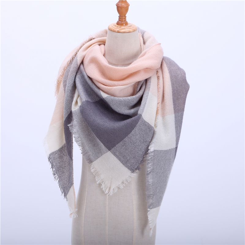 2019 New Spring Winter Women's   Scarf   Soft Plaid Warm Cashmere   Scarves   High Quality Female Shawls and Pashmina Lady Bandana   Wraps