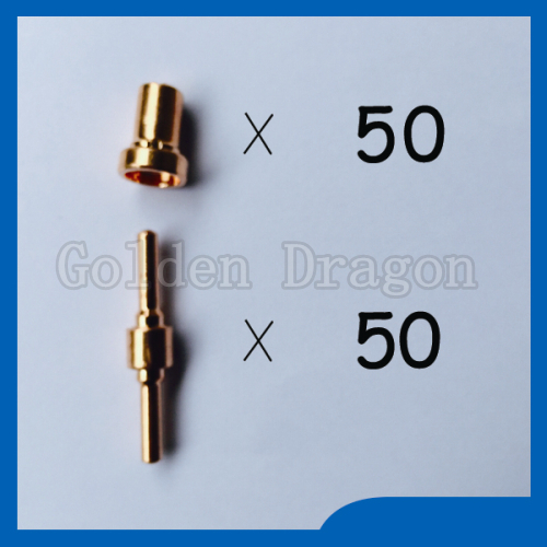 Free shipping PT31 LG40 Plasma Cutter Cutting Consumables KIT Extended Plasma Nozzles TIPS Fit Cut40 50D CT312