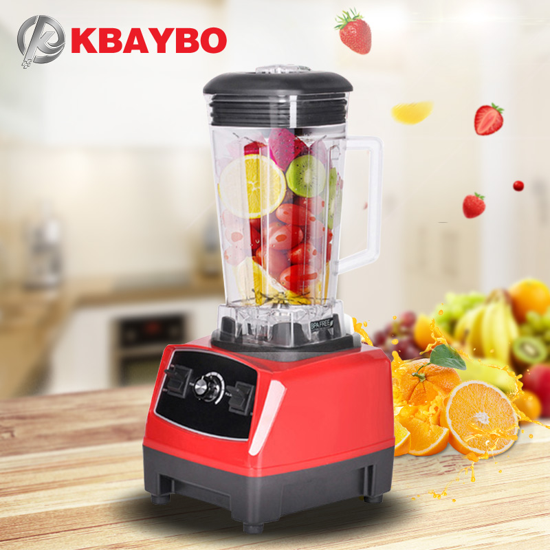 BPA Free 3HP 2200W Heavy Duty Commercial Grade Blender Mixer Juicer High Power Food Processor Ice Smoothie Bar Fruit Blender bpa 3 speed heavy duty commercial grade juicer fruit blender mixer 2200w 2l professional smoothies food mixer fruit processor