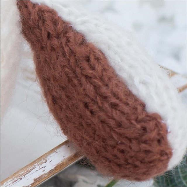 5f84119beac Newborn Boy Photography Props Crochet Ear Puppy Dog Hat Cute Baby Winter Cap  Infant Bonnet for