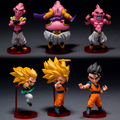6pcs dragon ball z kai action figure Son Gokou Gohan Goten Buu Ubu Budokai pvc model Japanese anime figure dragonball Z kai toy