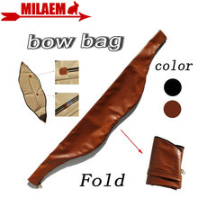 1pc Archery Recurve Bow Bag Soft Leather Traditional Recurve Bow Bag Longbow Bag Shooting Hunting Outdoor Sports Bow Accessories стоимость