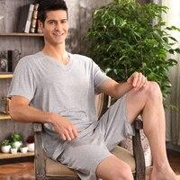 Quality Male Sleepwear Summer Cotton Short Sleeve 100 Shorts Men 100 Short Sleeve Cotton Plus Size